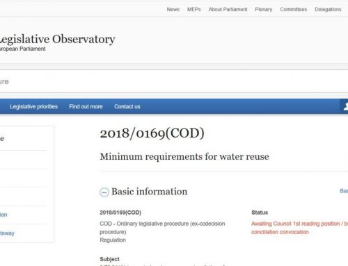 Reglamento europeo sobre riego agrícola con agua regenerada