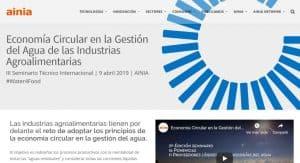 Ponencias de Seminario sobre Economía Circular en la Gestión del Agua de las Industrias Agroalimentarias