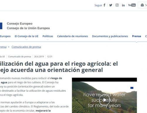 El Consejo Europeo y su propuesta sobre la reutilización del agua