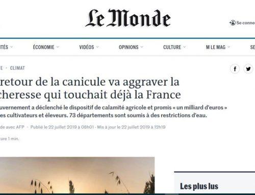 La vuelta del calor intenso agrava la sequía en Francia