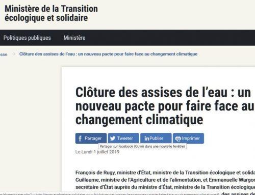 Encuentros del Agua: pacto frente al cambio climático en Francia