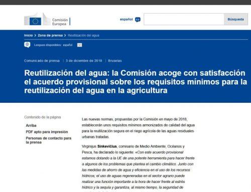 Normativa europea sobre la reutilización del agua para riego agrícola