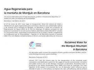 Ficha informativa del proyecto de reutilización en Montjuïc