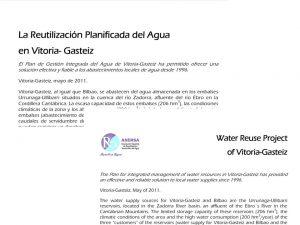 Ficha informativa del proyecto de reutilización de Vitoria-Gasteiz