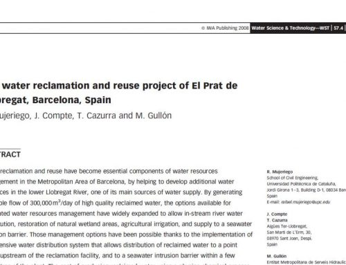 The water reclamation and reuse project of El Prat de Llobregat