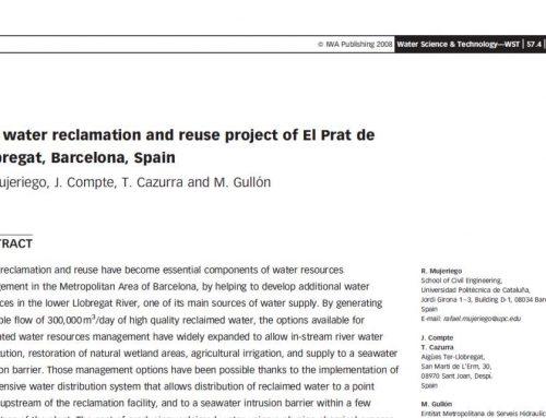 The water reclamation and reuse project of El Prat de Llobregat