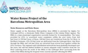 Ficha informativa del proyecto de reutilización en el AMB