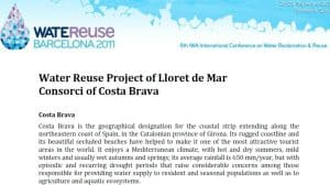 Ficha informativa del proyecto de reutilización de Lloret de Mar