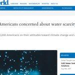 Los norteamericanos, preocupados por la escasez de agua