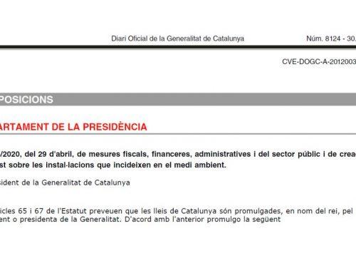 Legislación promotora de la reutilización en Catalunya