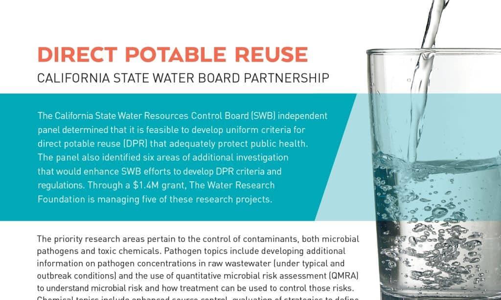 Hoja informativa de la reutilización potable directa