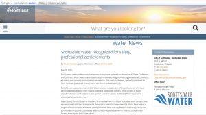 La ciudad de Scottsdale, premiada por sus logros en reutilización potable directa