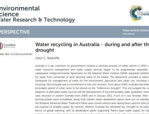 La reutilización del agua en Australia en 2015