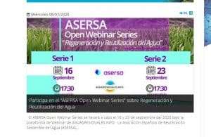 ASERSA Open Webinar Series sobre Regeneración y Reutilización