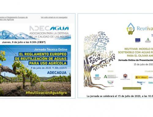 Webinars de ADECAGUA y REUTIVAR