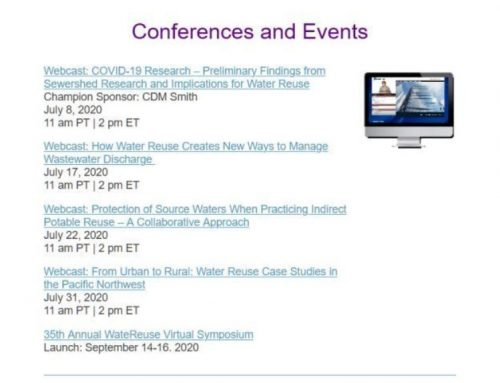 Webinars de la WateReuse Association