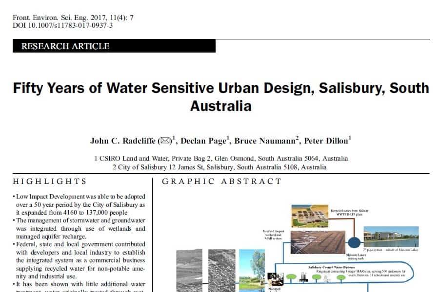 Salisbury: 50 años de diseño urbano respetuoso con el agua