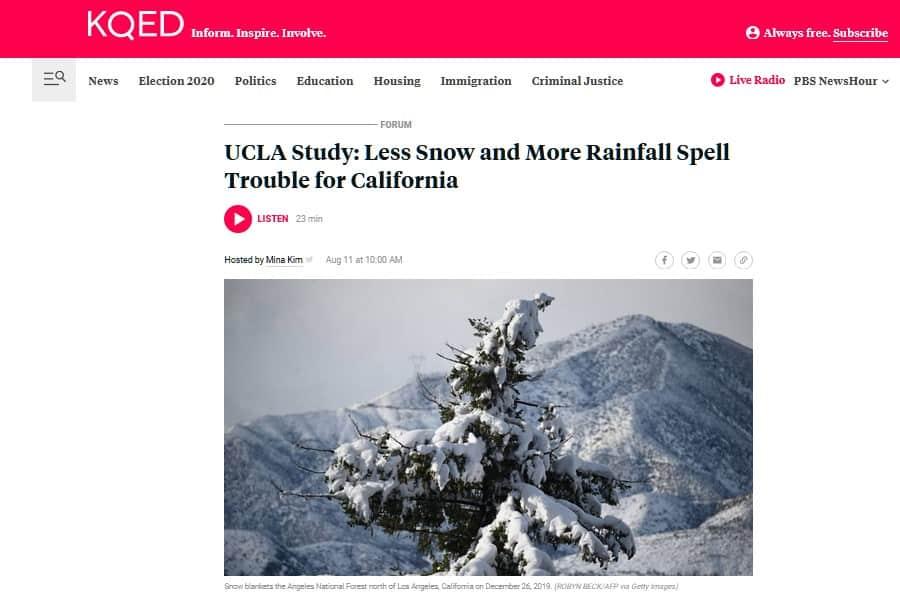 Nuevos problemas meteorológicos: menos nieve y más lluvia