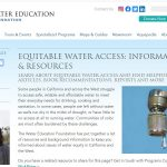 Water Education Foundation: acceso equitativo al agua
