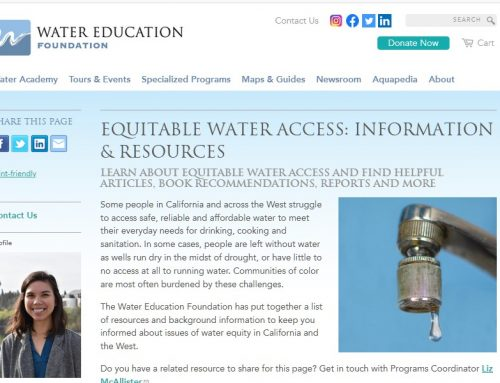 Water Education Foundation: acceso equitativo al agua