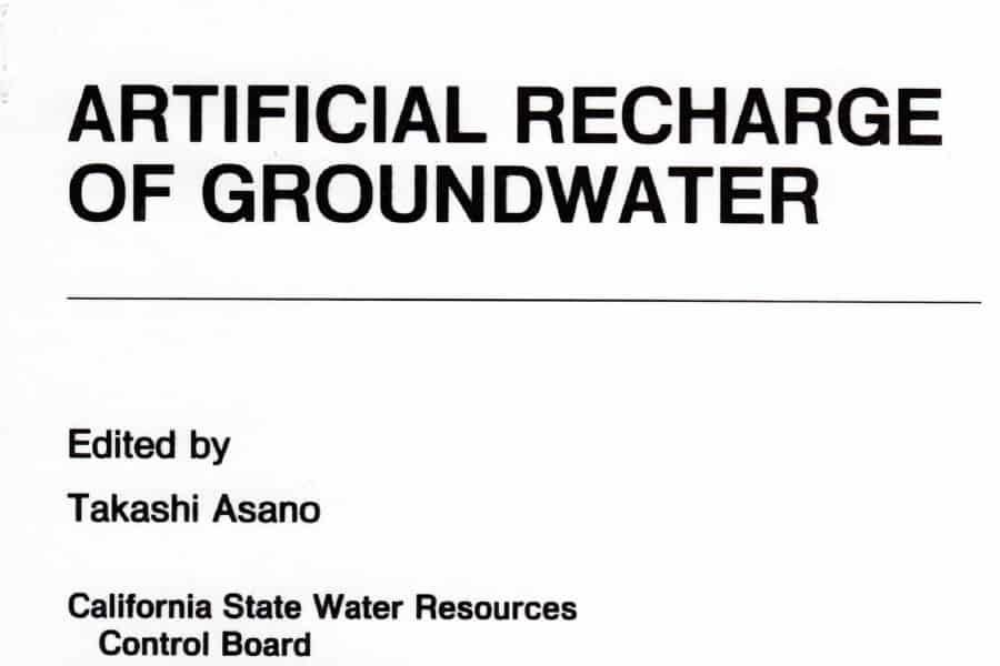 Recarga planificada de acuíferos en 1985