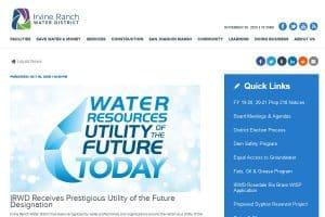Empresa del Agua del Futuro en 2020: Irvine Ranch Water District