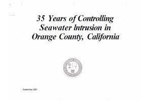 Barrera contra la intrusión salina: 35 años de estudio