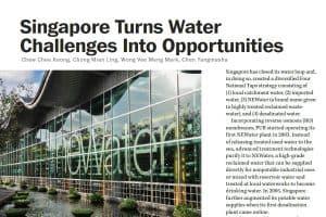 Singapur convierte sus retos hídricos en oportunidades