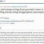 Ahorro de agua y energía mediante la reutilización de aguas grises