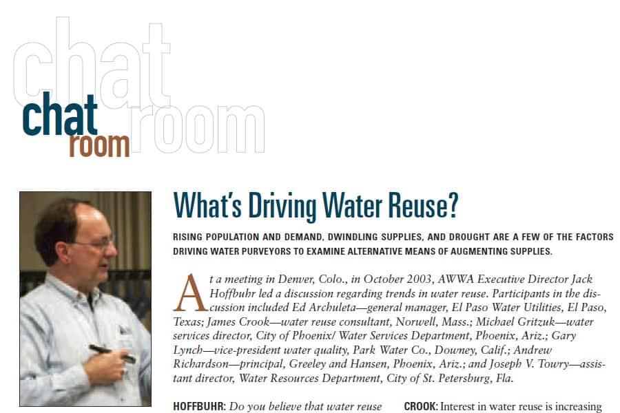 Reutilización del agua: debate sobre su motivación