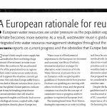 Reutilización del agua: una perspectiva europea en 2004