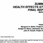 Recarga con agua regenerada: efectos sobre la salud