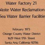 Water Factory 21: una planta de regeneración pionera