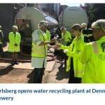 Carlsberg inaugura una planta de regeneración de agua en Dinamarca