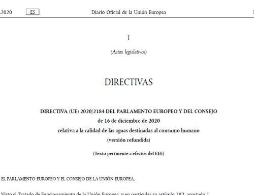 Directiva (UE) 2020/2184 sobre aguas de consumo humano