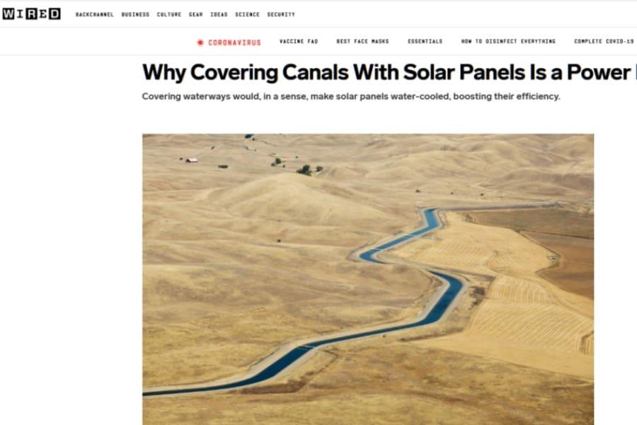 Recubrir canales con paneles solares: una iniciativa energética