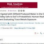 La seguridad del riego con agua de explotaciones petrolíferas