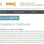 Ficha técnica del PPIC sobre las sequías