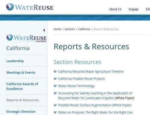Informes y documentos sobre reutilización de la WateReuse