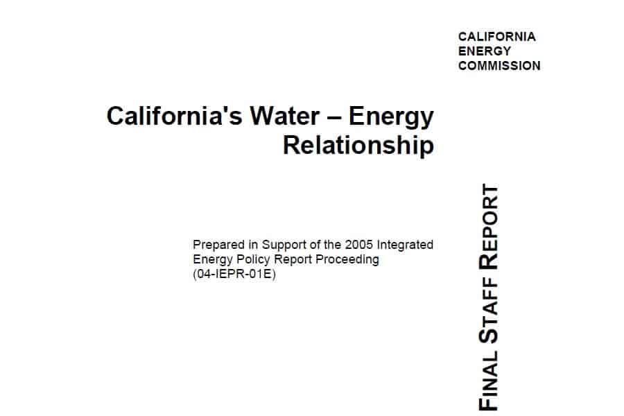 La relación agua-energía en California en 2005