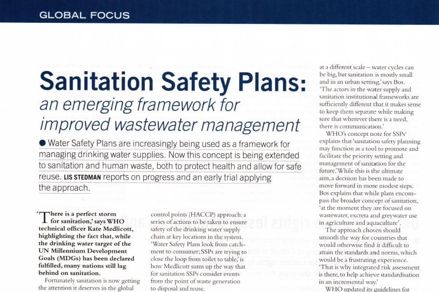 Sanitation Safety Plans en 2014