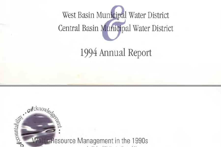 Informe anual de West Basin en 1994