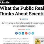 Lo que el público piensa realmente de los científicos