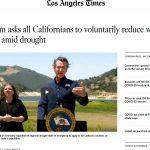 El gobernador de California: 15 % de reducción voluntaria del consumo de agua