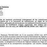 Propuesta de Resolución de la Agencia Catalana del Agua: proyectos de reutilización